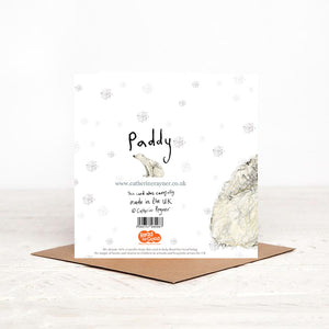 Pack of 5 Paddy Polar Bear Charity Christmas Cards