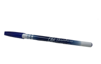 Blue and White Old Threshers Script Cap Pen