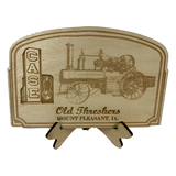 Laser Burned Case Steam Engine Sign