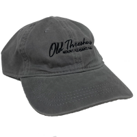 Ladies Twill Grey Old Threshers Script Hat