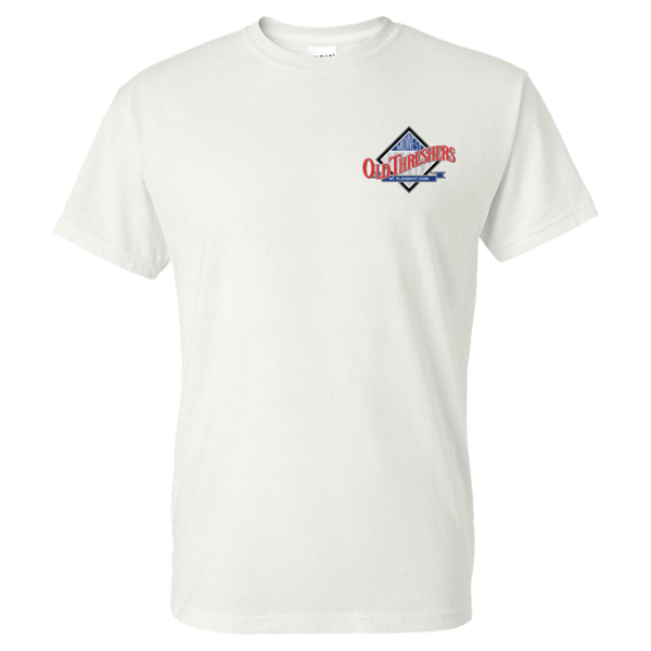 White Full Color Old Threshers Logo Tshirt