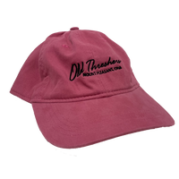 Ladies Twill Pink Old Threshers Script Hat