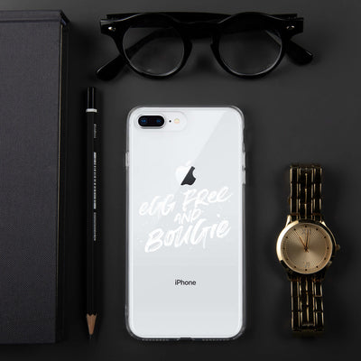 Egg Free & Bougie iPhone Case White Print