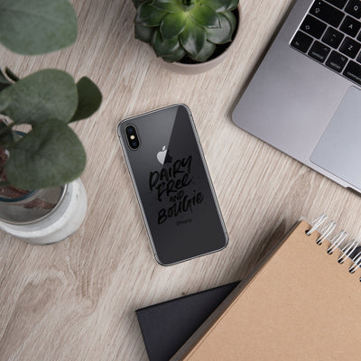 Dairy Free & Bougie iPhone Case Black Print