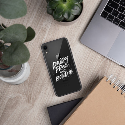 Dairy Free & Bougie iPhone Case White Print