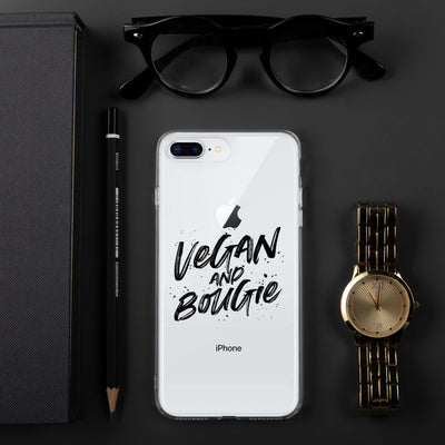 Vegan & Bougie iPhone Case Black Print