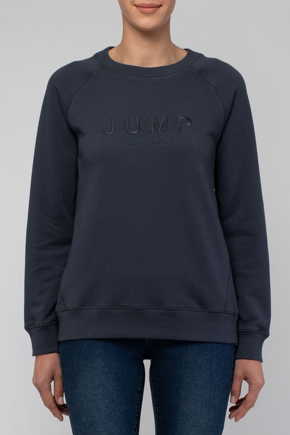 JUMP Logo Sweat Top | Grey