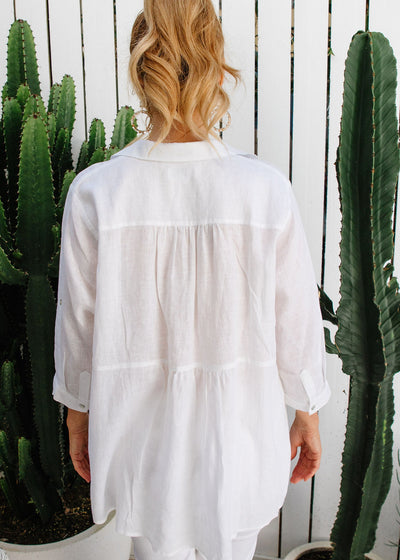 GC Relaxed Linen Shirt | White