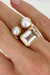 Fairley-Crystal Cocktail Ring (Gold)