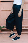 GC Linen Wide Leg Pant  |  Navy