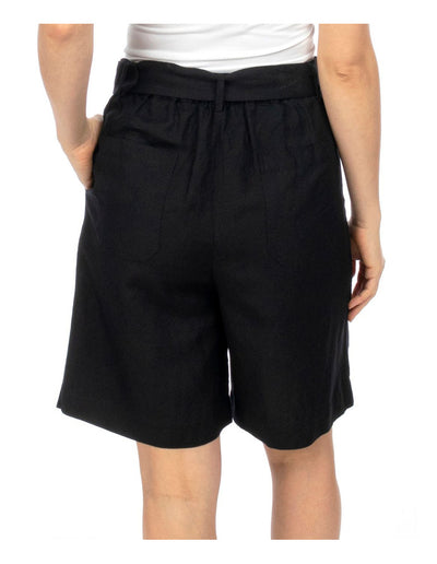 Ping Pong Belted Pleat Short | Black