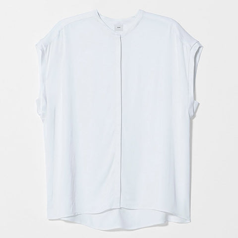 Miles From - Relaxed Roll Up Organic Tee  | White