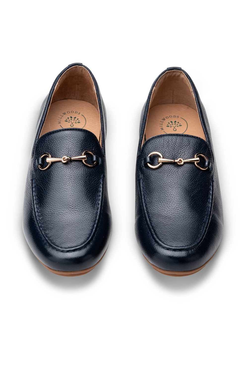 Millwoods-Navy Leather Loafer | Navy