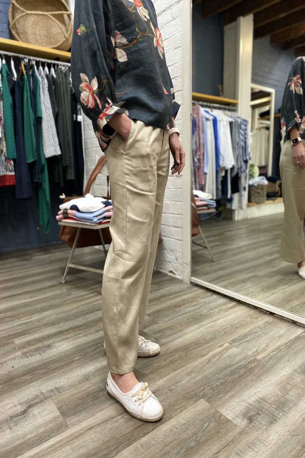 Relaxed Linen Pant | Wheat