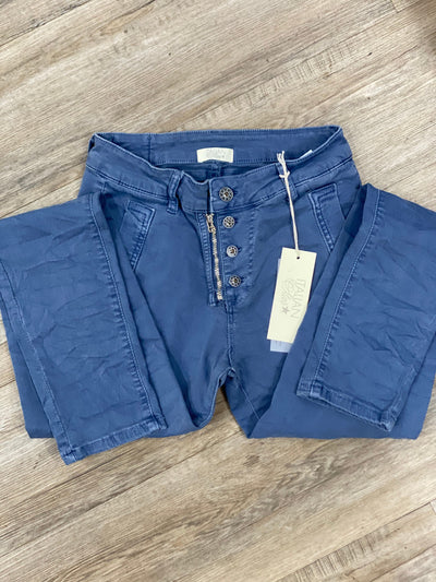 Italian Star - Classic Button Jeans | Airforce