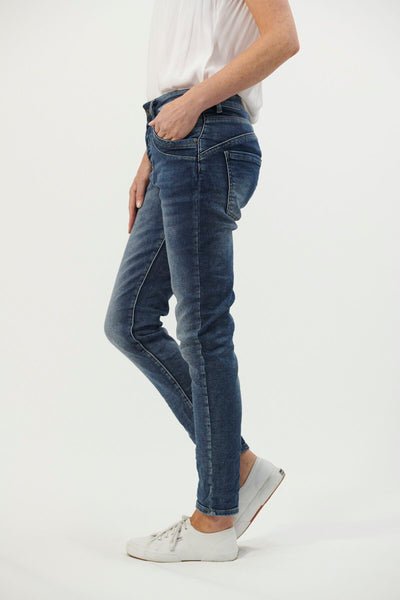 Italian Star-Pocket Detail Jeans | Denim