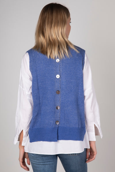 Z+P - Button Back Vest | Chambray