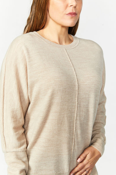 See Saw-Button Back Sweater | Almond Marle