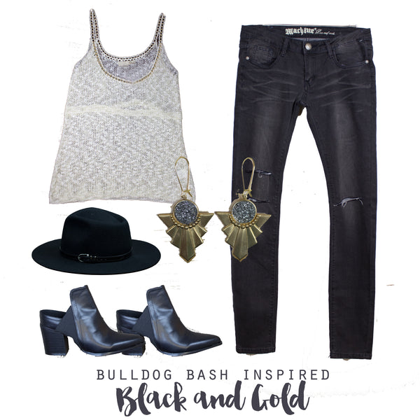 Outfit Inspiration, Black and Gold