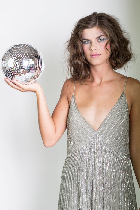 Sequin Dress & Disco Ball