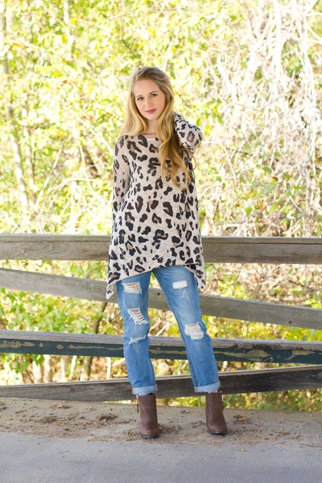 Fall Layers - Cheetah Print Long Sleeve Top