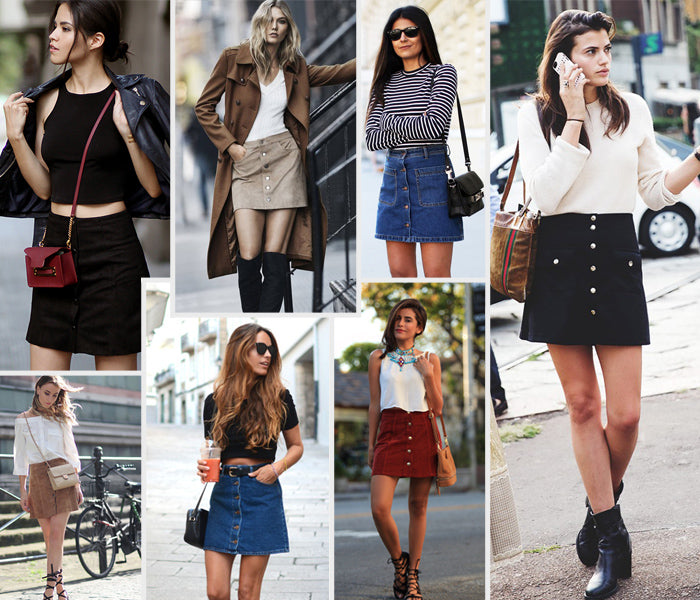 Style Revel Spring Trend Report Crop Tops and Button Up Skirts
