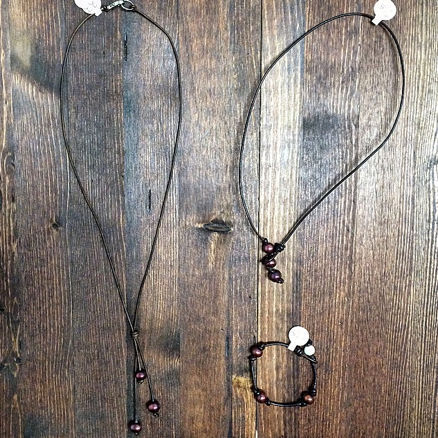 Maroon Freshwater Necklaces and Bracelets