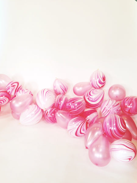 BTS - Pink Marble Balloons