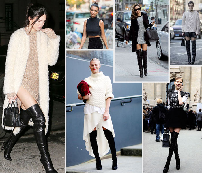 Style Revel Spring Trend Report 2016 Mock Necks and Thigh High Boots