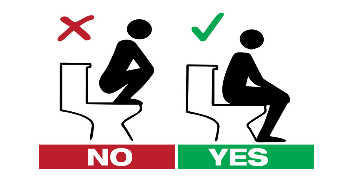 no squatting on toilet seat sign