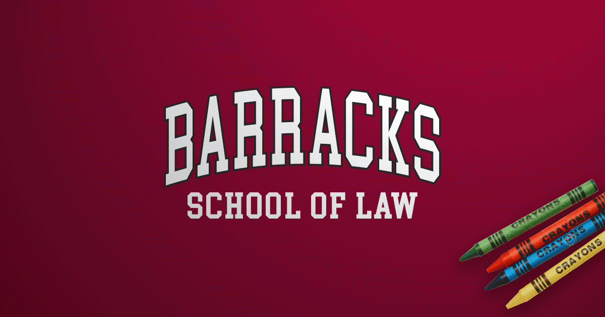 Inkfidel Barracks School of Law Blog Banner