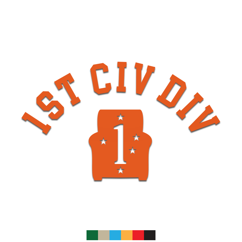 1st Civ Div Decal - Inkfidel