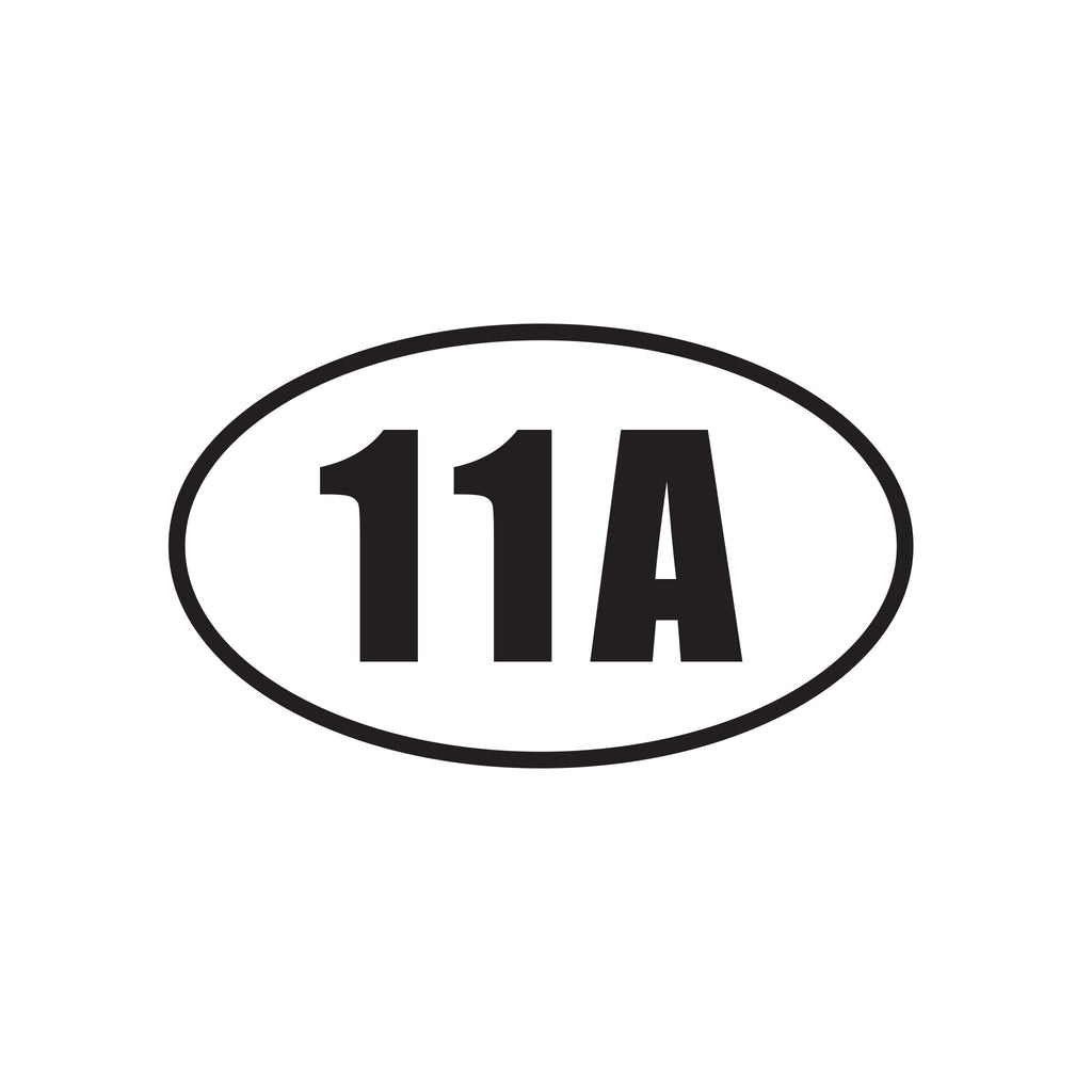 11A - Infantry Officer - Oval Decal - Black - Inkfidel