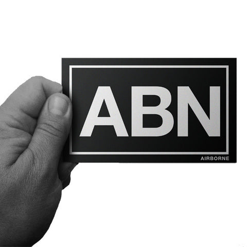 Black and White ABN Army Airborne Decal - Inkfidel