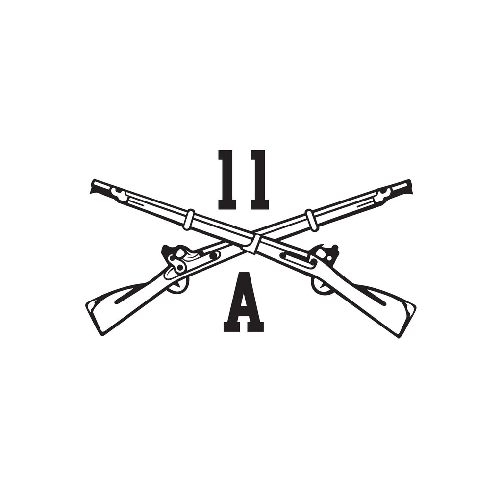 11A - Infantry Officer - Crossed Rifles - Inkfidel
