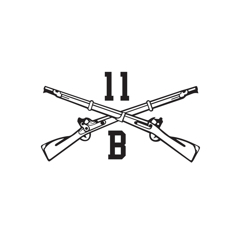 11B - Infantryman - Crossed Rifles - Inkfidel