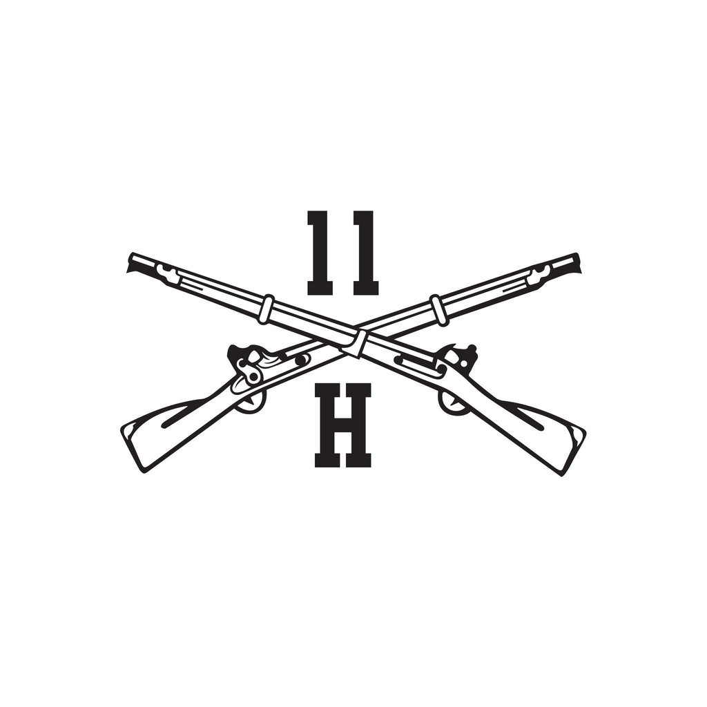 11H - Heavy Anti Armor Weapons Infantryman - Crossed Rifles - Inkfidel