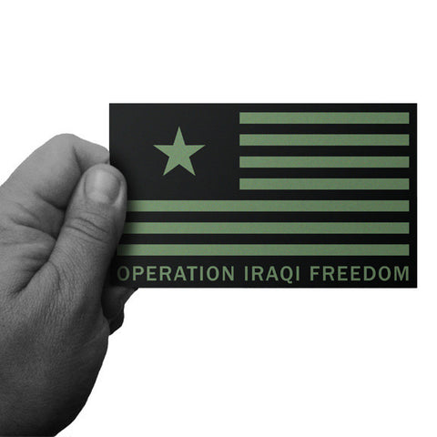 Operation Iraqi Freedom OIF Flag Decal - Inkfidel