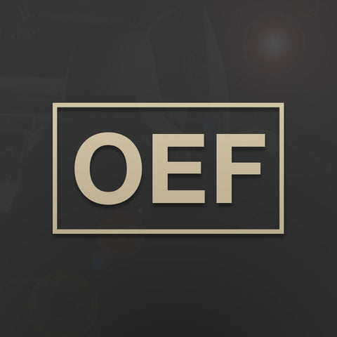 Die-Cut OEF Operation Enduring Freedom Decal - Inkfidel