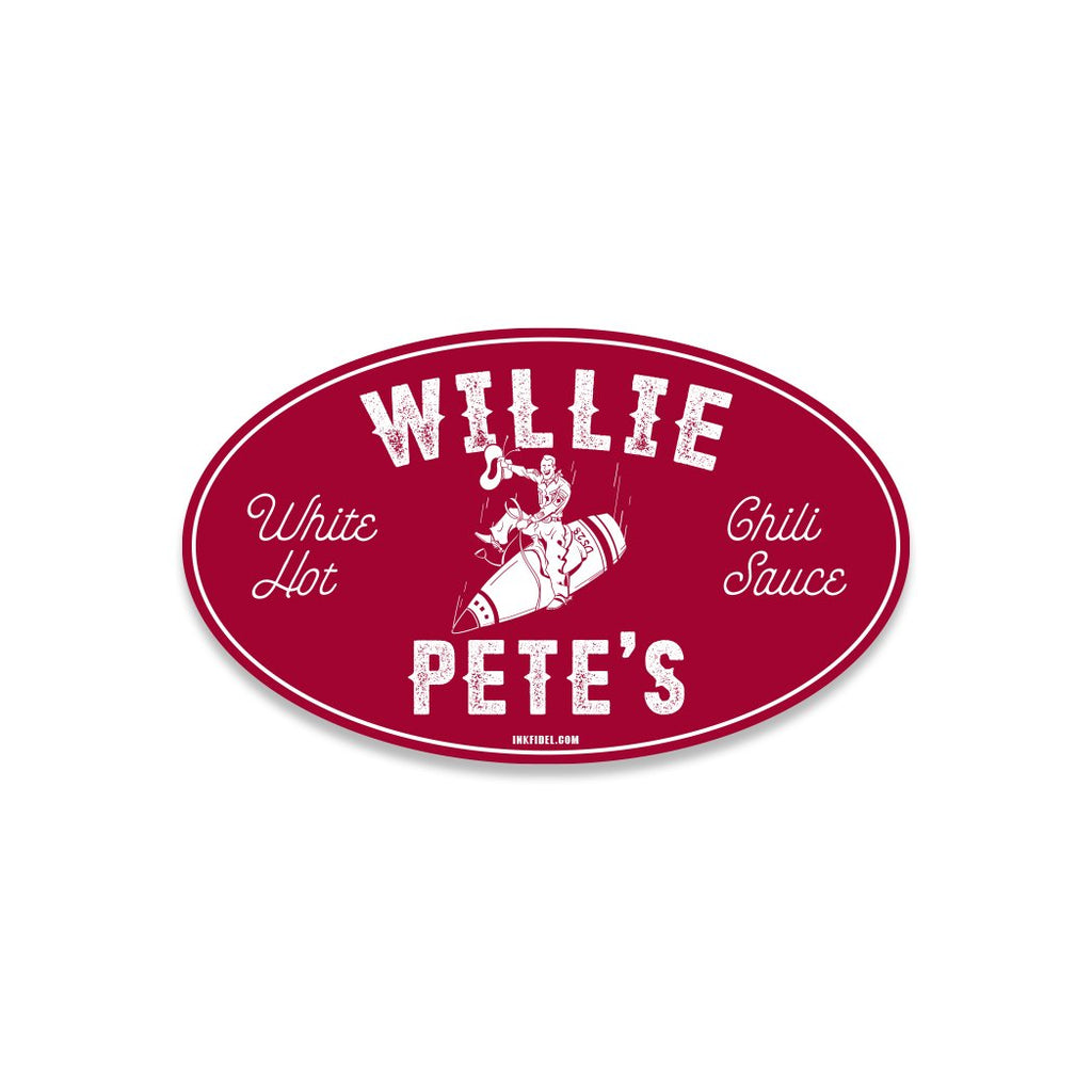 Inkfidel - WIllie Pete's Vinyl Funny Military Themed Window Sticker