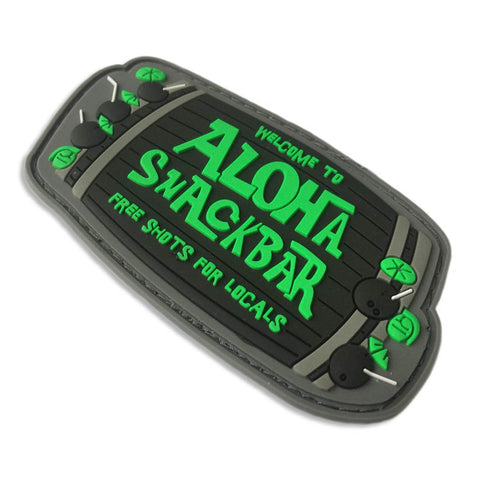 Black and Green Aloha Snackbar PVC Morale Patch