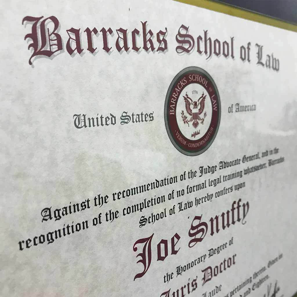 Barracks Lawyer Degree - Inkfidel