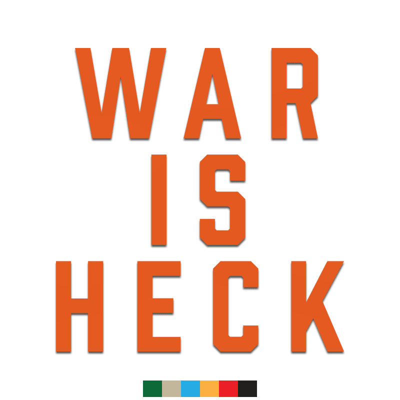 War is Heck Decal - Inkfidel