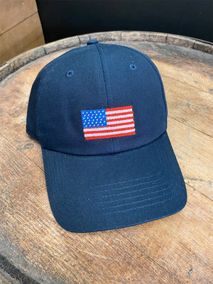 Needlepoint American Flag Hat