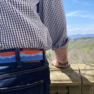 Blue Ridge Mountain Needlepoint Belts