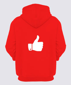 Celebrity Face Red Color Full Sleeve Hoodie For Girls