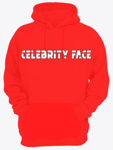 Celebrity Face Red Color Full Sleeve Hoodie For Men