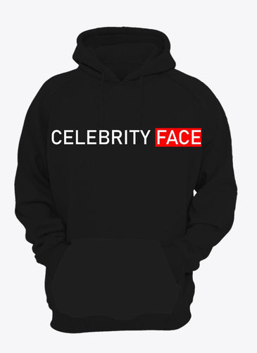 Celebrity Face Black Color Full Sleeve Hoodie For Girls