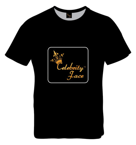 Celebrity Face Black Color Half Sleeve T-shirt For Mens