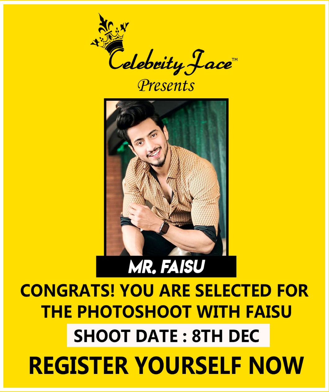 Register Your PhotoShoot with TikTok Star Mr. Faisu at Celebrity Face